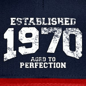 Geburtstag - established 1970 - aged to perfection - Snapback Cap