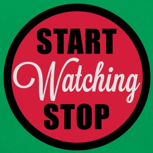 start stop watching T-Shirts - Retro taske