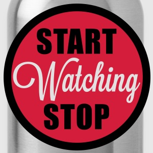 start stop watching T-Shirts - Bidon