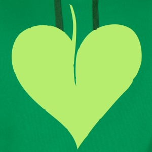 Leaf Heart Tee shirts - Sweat-shirt à capuche Premium pour hommes