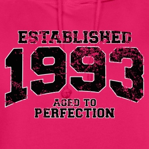 established 1993 - aged to perfection(fr) Tee shirts - Sweat-shirt à capuche unisexe