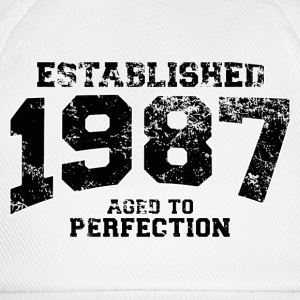 Geburtstag - established 1987 - aged to perfection - Baseballkappe