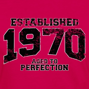 established 1970 - aged to perfection(fr) Tee shirts - T-shirt manches longues Premium Femme