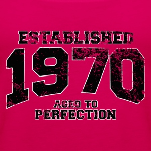 established 1970 - aged to perfection(fr) Tee shirts - Débardeur Premium Femme