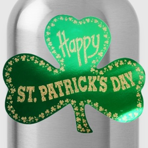 Happy St. Patricks Day Three Leafed Clover - Water Bottle