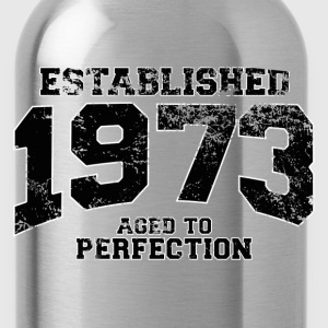 established 1973 - aged to perfection(nl) T-shirts - Drinkfles