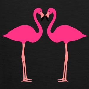 Flamingos, Flamingo Herz T-Shirts - Männer Premium Tank Top