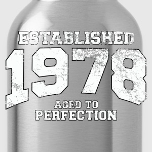 established 1978 - aged to perfection (uk) T-Shirts - Water Bottle
