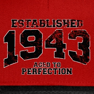 established 1943 - aged to perfection (uk) T-Shirts - Snapback Cap