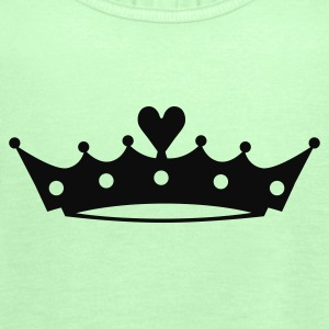 Crown with Heart T-Shirts - Women's Tank Top by Bella