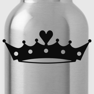 Crown with Heart T-Shirts - Water Bottle