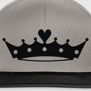 Crown with Heart T-Shirts - Snapback Cap