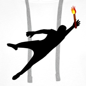 Goalkeeper with pyrotechnics - Men's Premium Hoodie