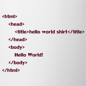 hello_world T-Shirts - Tasse