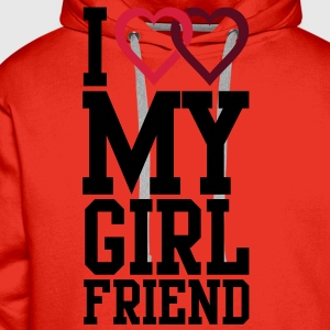 I love my Girlfriend T-shirts - Mannen Premium hoodie