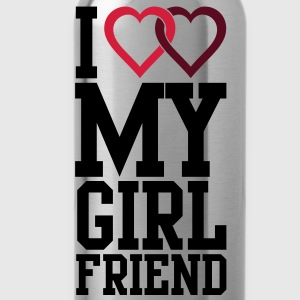 I love my Girlfriend T-Shirts - Water Bottle