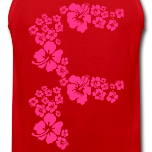 hawaii flower T-Shirts - Men's Premium Tank Top