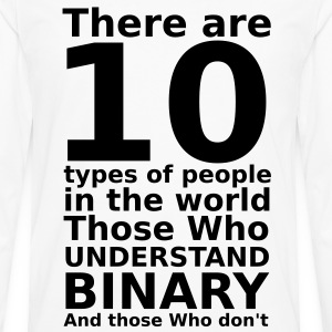 There are 10 types of people T-Shirts - Men's Premium Longsleeve Shirt