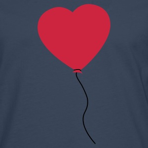 Love Heart Balloon T-shirts - Långärmad premium-T-shirt herr