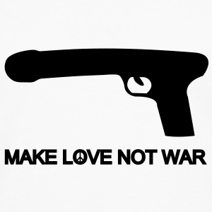 make love not war T-shirts - Mannen Premium shirt met lange mouwen