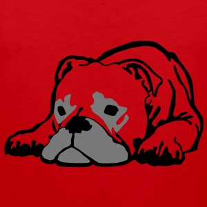 Bulldog T-Shirts - Men's Premium Tank Top