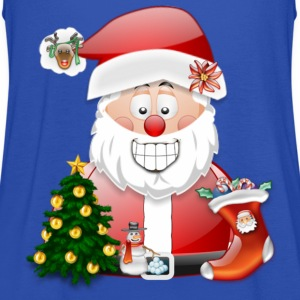 Merry Christmas Father Christmas Santa Scene - Women's Tank Top by Bella
