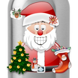 Merry Christmas Father Christmas Santa Scene - Water Bottle