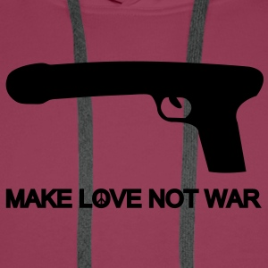 make love not war T-Shirts - Männer Premium Hoodie