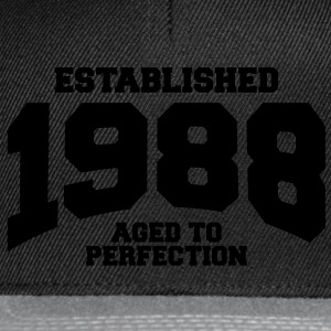 aged to perfection established 1988 (fr) Tee shirts - Casquette snapback