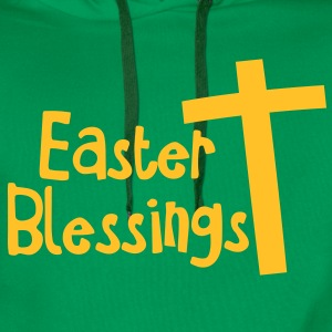 EASTER blessings with a tall cross Jesus Christ Shirts - Men's Premium Hoodie