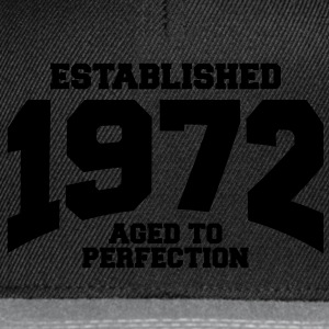 aged to perfection established 1972 (es) Camisetas - Gorra Snapback
