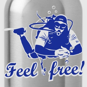 Feel free!, bicolor T-Shirts - Trinkflasche