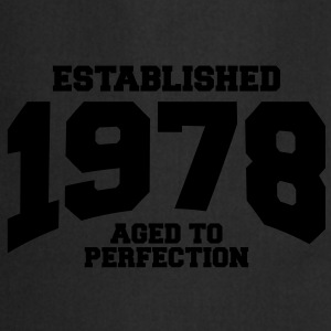 aged to perfection established 1978 (uk) T-Shirts - Cooking Apron