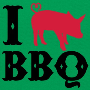 I love BBQ T-Shirts - Retro Tasche