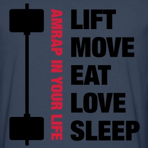 Lift Move Eat Love Sleep - MEN - Maglietta Premium a manica lunga da uomo