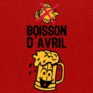 boisson avril biere alcool verre smiley Tee shirts - Casquette snapback