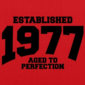 aged to perfection established 1977 (uk) T-Shirts - Tote Bag