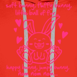 soft bunny, fluffy bunny, little ball of fur... T-Shirts - Men's Premium Hoodie
