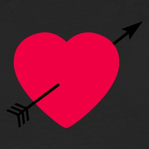 Heart round with arrow T-shirts - Herre premium T-shirt med lange ærmer