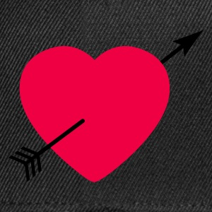 Heart round with arrow T-skjorter - Snapback-caps