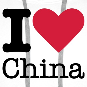 I Love China T-Shirts - Men's Premium Hoodie