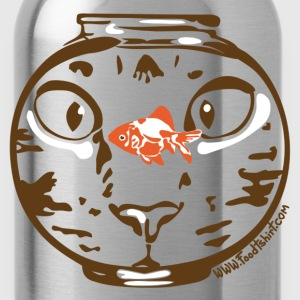 Hungry cat stare T-Shirts - Water Bottle