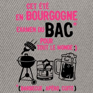 bac bourgogne barbecue apero cuite biere Tee shirts - Casquette snapback