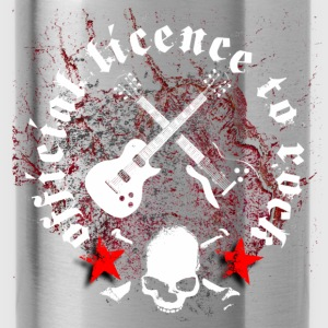 licence_to_rock_a Shirts - Water Bottle