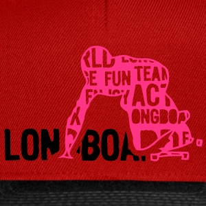 longboard texte mots 204 Tee shirts - Casquette snapback