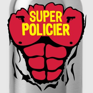 policier super corps muscle bodybuilding Tee shirts - Gourde
