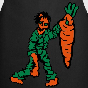 Zombie with Carrot T-Shirts - Cooking Apron