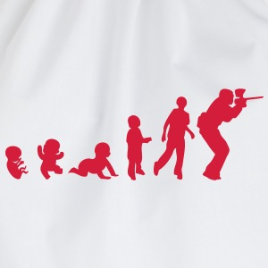 evolution paintball2 foetus human humain Tee shirts - Sac de sport léger