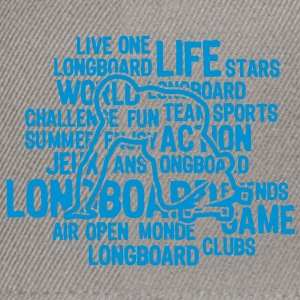 longboard texte mots1 Tee shirts - Casquette snapback