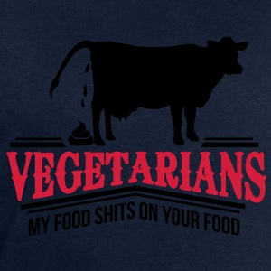 Vegetarians - my food shits on your food T-Shirts - Men's Sweatshirt by Stanley & Stella